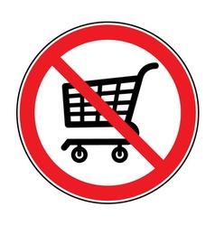 No cart sign vector
