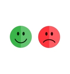 Set of smiley emoticons vector