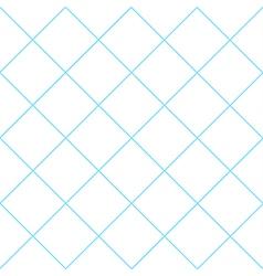 Blue grid white diamond background vector