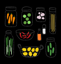 a set of organic ingredients vector image vector image