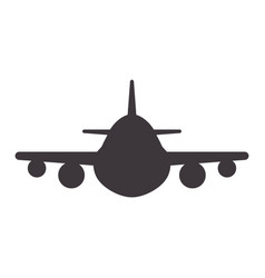 Airplane to travel and transportation vector