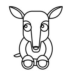 Anteater animal cartoon vector