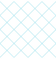 Blue Grid White Diamond Background vector image