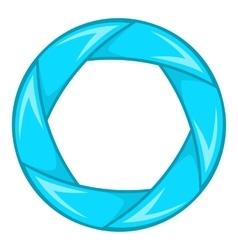 Blue shutter icon cartoon style vector