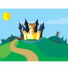 castle carton vector image vector image