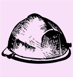 Construction hard hat vector image
