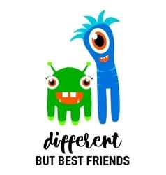 Cool modern friendship card vector