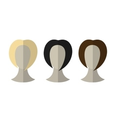 Flat icon hairstyles Blonde brunette Different vector image