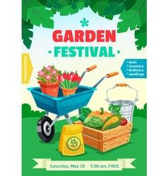 Garden festival poster vector