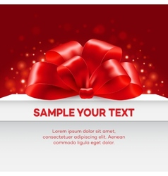 Gift with red bow vector image vector image