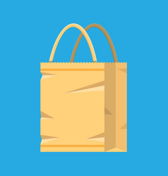 Grocery empty paper bag vector
