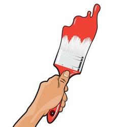 Hand paint brush vector