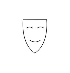 happy mask icon vector image