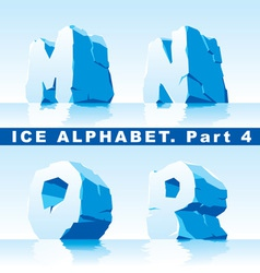 Ice alpfabet part 4 vector