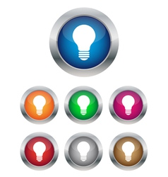 Lamp buttons vector image