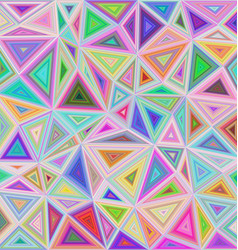 Multicolor triangle mosaic tile background design vector