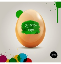 Orange eggs in the colored painbrush grunge vector image vector image