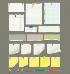 paper collection vector image vector image