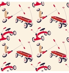 Pattern 50s backdrop 1950s retro style vector