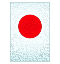 Pattern japanese flag vector