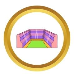 Rectangular stadium icon vector