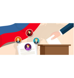 Russia democracy political process selecting vector