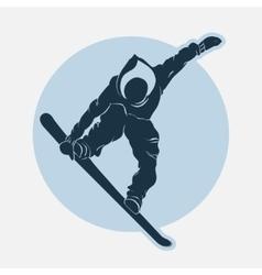 Snowboarding sport emblem vector image vector image