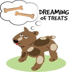 Treats dreaming vector