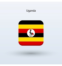 Uganda flag icon vector
