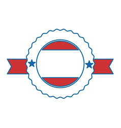 united states of america seal with ribbon vector image vector image