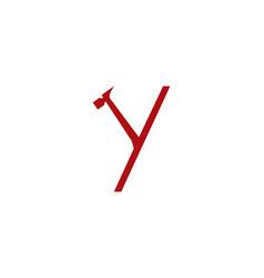 y letter repair logo vector image