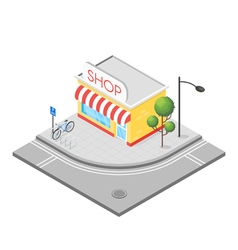Isometric 3d of shop vector image