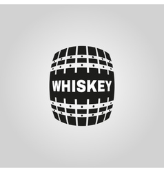 The whiskey icon cask and keg alcohol symbol ui vector