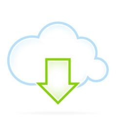 Cloud Computing Icon Download vector image