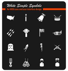 memorial day icon set vector image