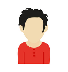 Faceless man with scruffy hair icon image vector