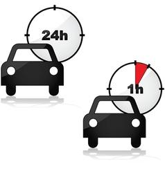 Car rental vector image