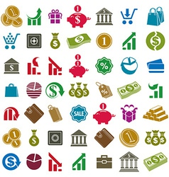 Money icons isolated on white background set vector