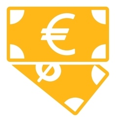 Banknotes icon from business bicolor set vector