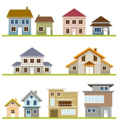 Various houses style set vector