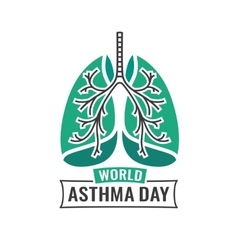 World asthma day vector