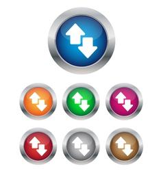 Data transfer buttons vector