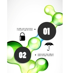 Abstract futuristic infographics template vector