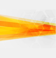 Abstract tech concept orange geometric background vector