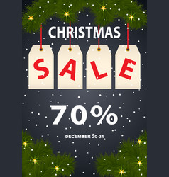 advertising poster christmas sale vector image vector image