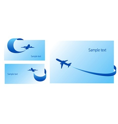 Airplane flight tickets air fly cloud sky blue ele vector