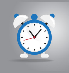 alarm clock icon flat style on gray background vector image vector image