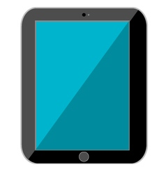 Black tablet isolated vector