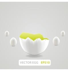 Brown broken egg concept vector image