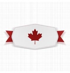 Canada Flag symbol realistic Label vector image vector image
